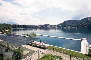 Plage du Lac de Bled, Slovénie - Bled Castle Bathing Area, Slovenia / Blejski Grajsko kopališče Blejsko jezero, Slovenija
