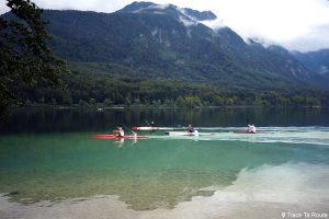 Activité kayak sur le Lac de Bohinj, Slovénie - Bohinj Lake, Slovenia / Bohinjsko jezero, Slovenija
