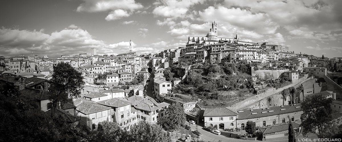 Photo vue sur la ville de Sienne, Toscane, Italie / Veduta de la Città di Siena, Italia - Trace Ta Route blog voyage