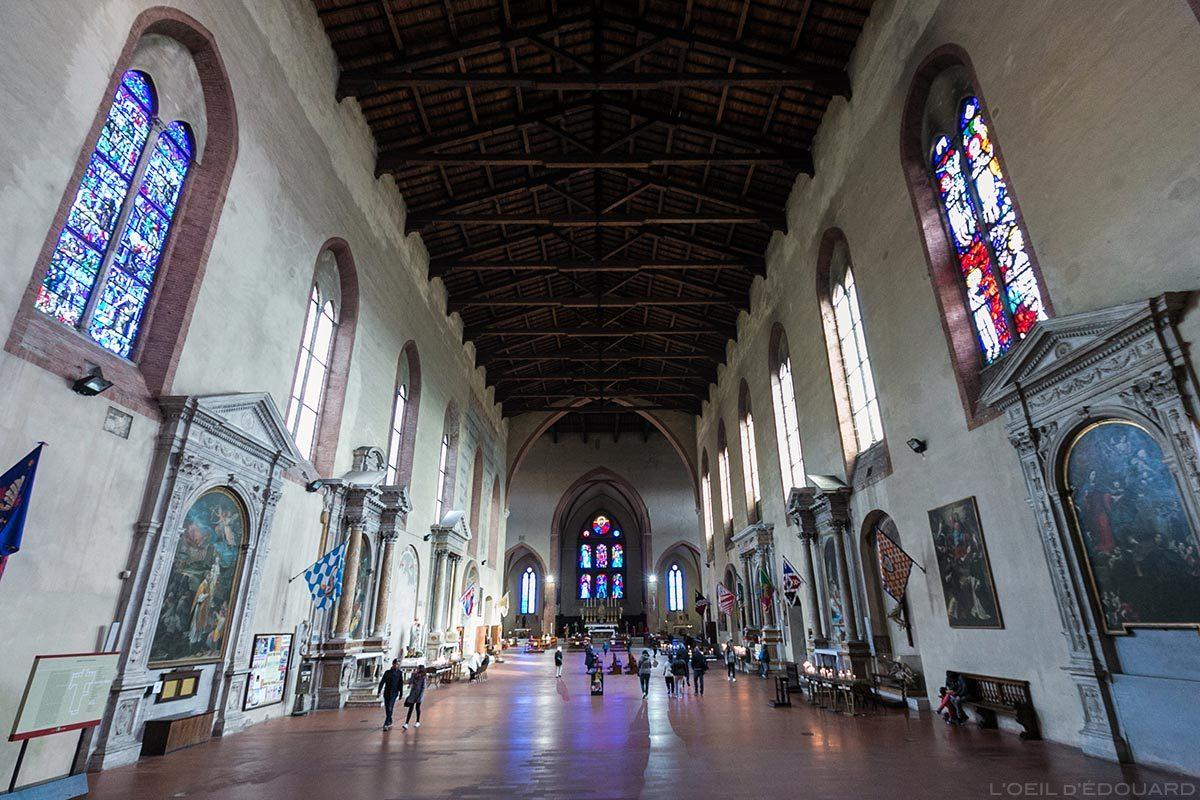 Intérieur Nef Basilique San Domenico de Sienne - Interno San Domenico e Basilica Cateriniana di San Domenico, Siena