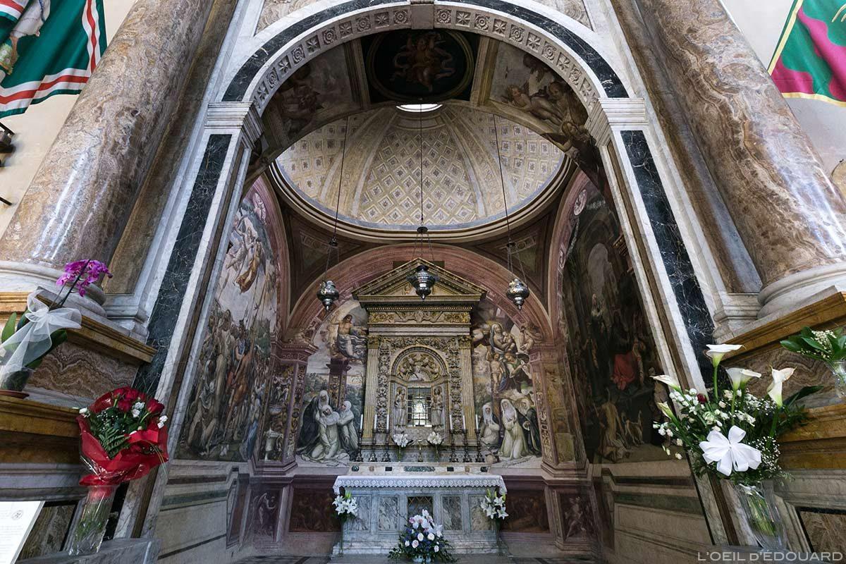 Chapelle Sainte-Catherine (reliques) Intérieur Basilique San Domenico de Sienne - Capella di Santa Caterina Interno San Domenico e Basilica Cateriniana di San Domenico, Siena