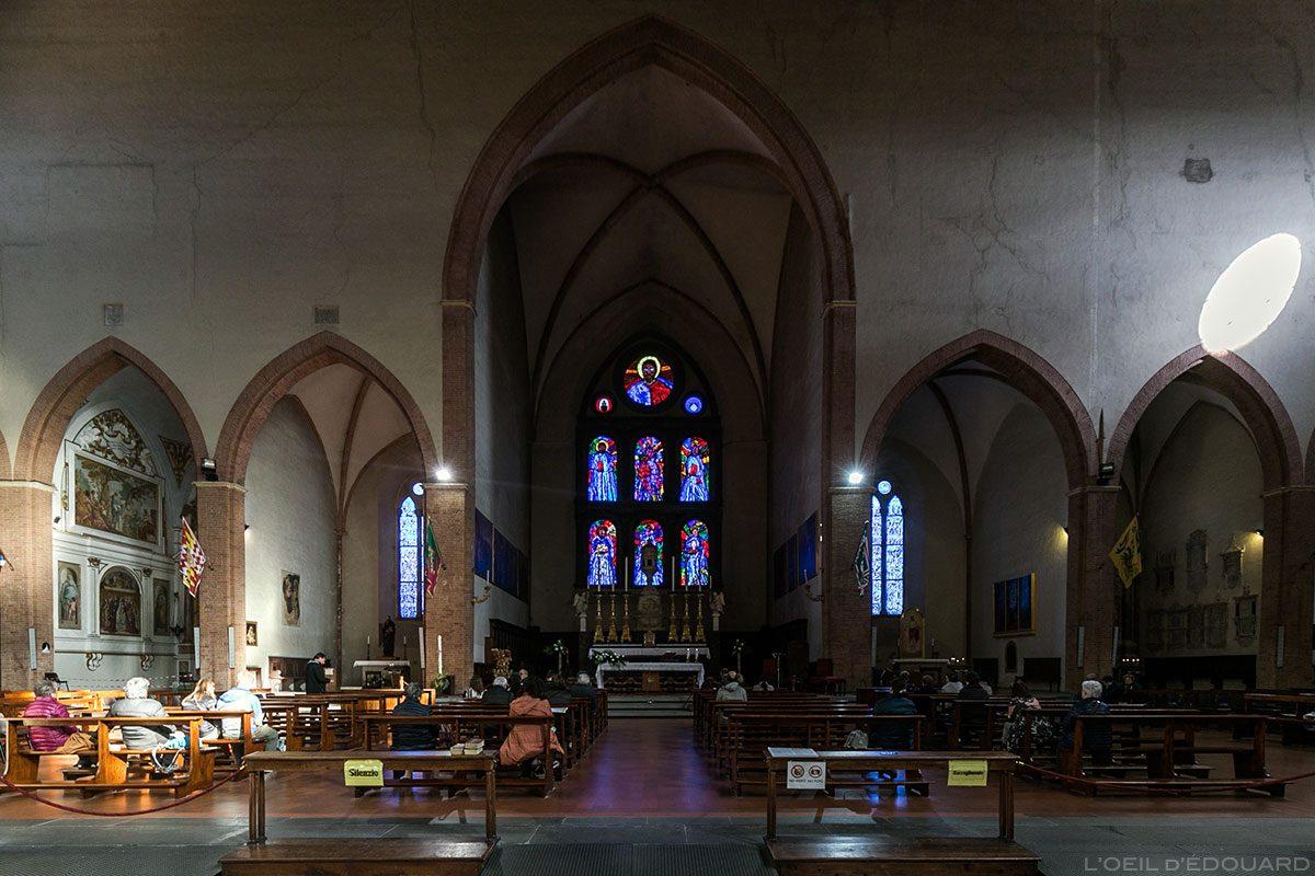 Transept et Choeur Intérieur Basilique San Domenico de Sienne - Transetto e Capella centrale Interno San Domenico e Basilica Cateriniana di San Domenico, Siena