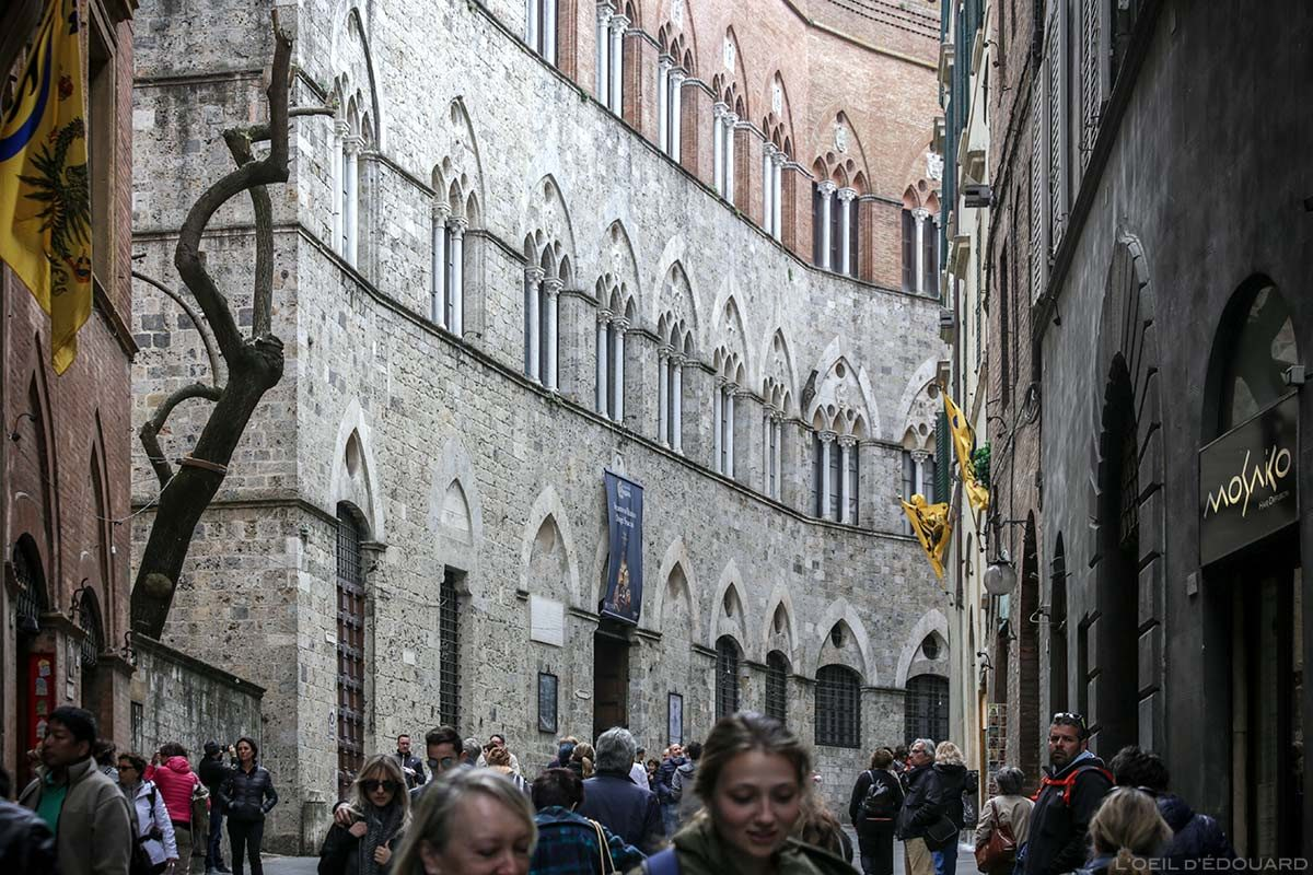 Visite de Sienne : Palazzo Chigi Saracini, Via di Città, Siena