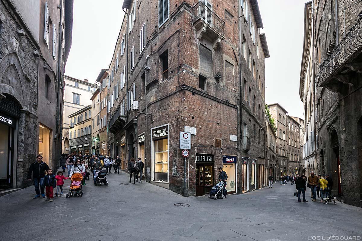 Visite de Sienne : Croce del Travaglio, Siena