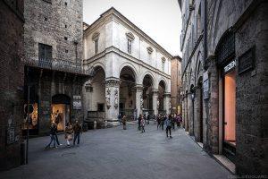 Visite de Sienne : Loggia della Mercanzia, Siena