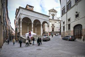 Visite de Sienne : Logge del Papa, église chiesa di San Martino, Siena
