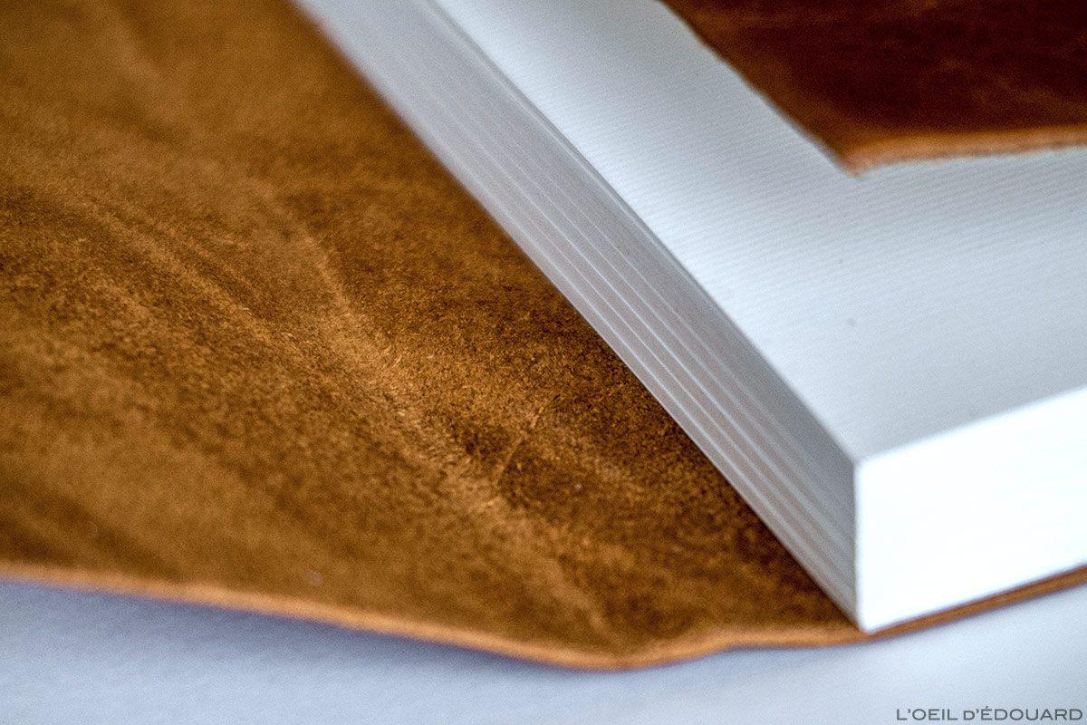 Carnet de voyage en cuir artisanal et naturel - Carnet du Voyageur