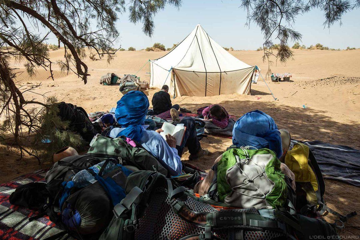 Bivouac dans le désert du Maroc