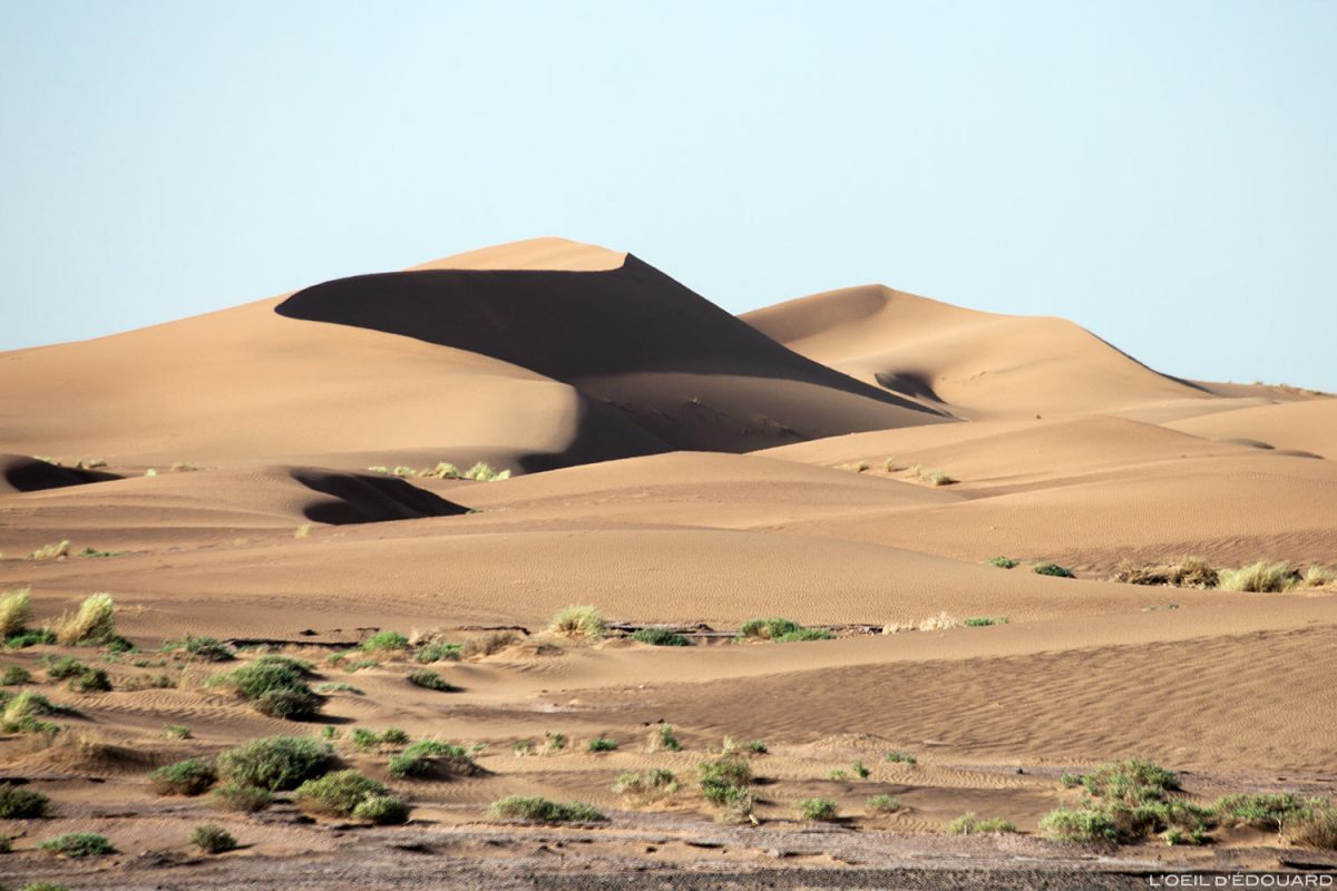 Dune de sable dans le désert du Maroc