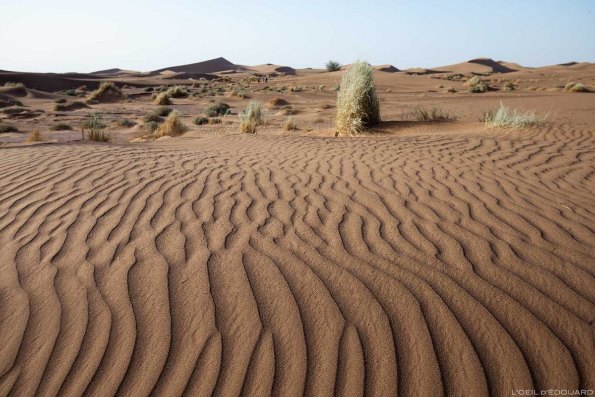Sable dans le désert marocain