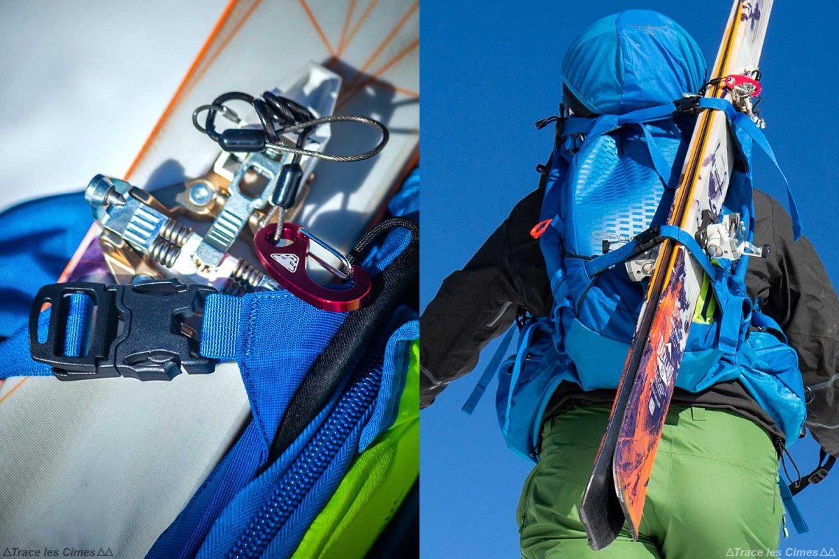 Test Sac à dos ski de randonnée Osprey Kamber 32 litres : portage des skis