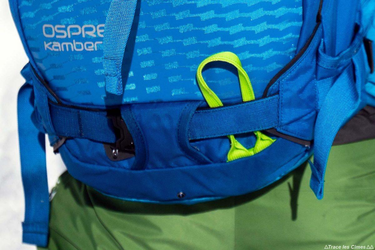 Test Sac à dos ski de randonnée Osprey Kamber 32 litres : porte-piolet