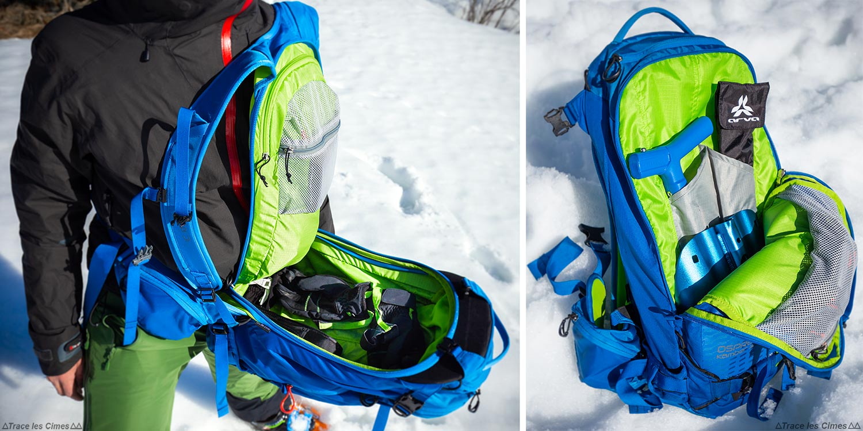Test Sac à dos ski de randonnée Osprey Kamber 32 litres : poches