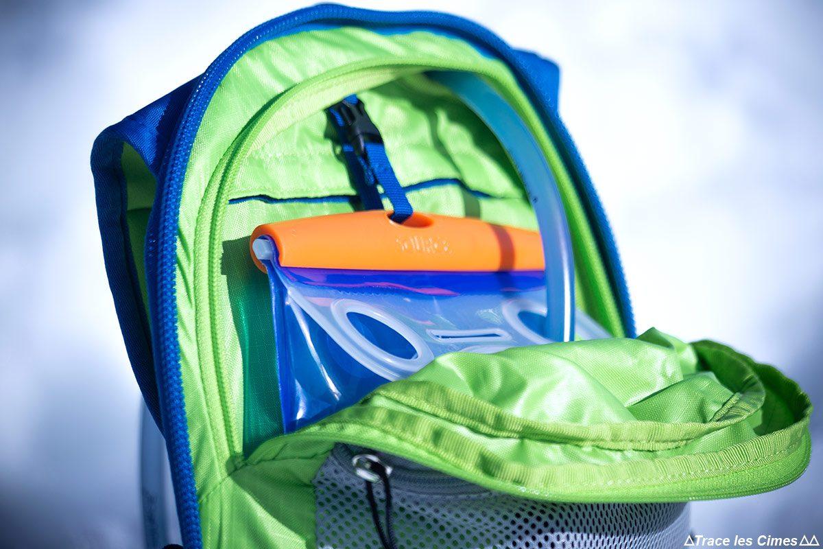 Test Sac à dos ski de randonnée Osprey Kamber 32 litres : poche sur camelbak