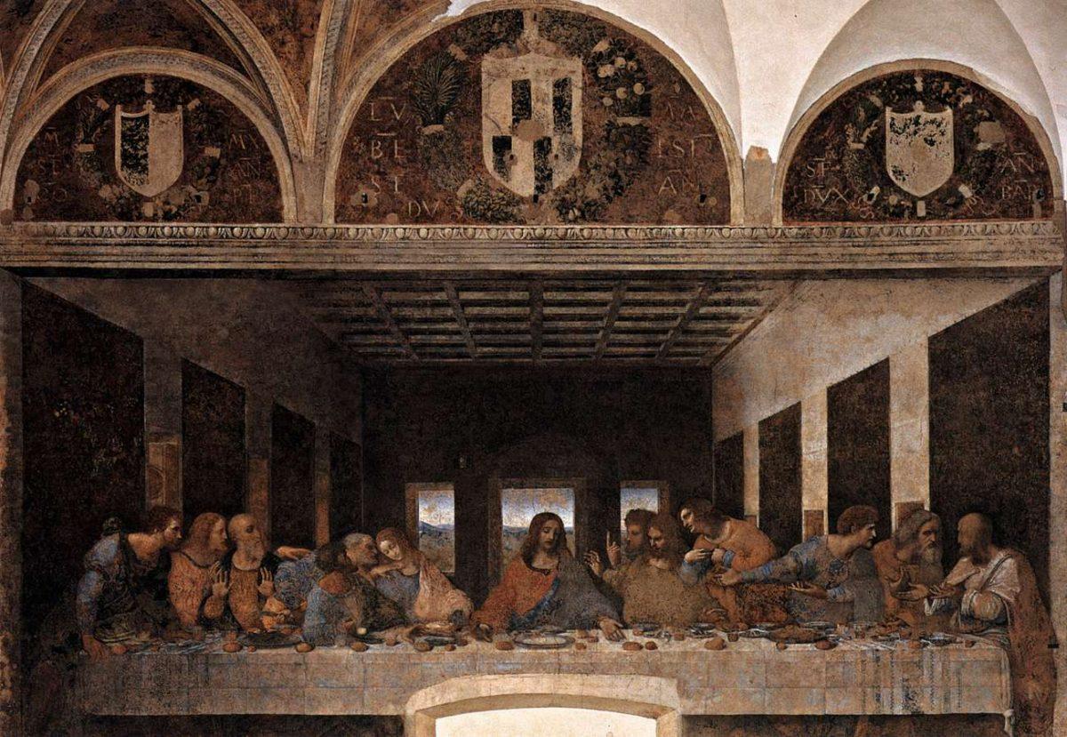 La Cène (1495-1498) Léonard de Vinci - Église Santa Maria delle Grazie, Milan