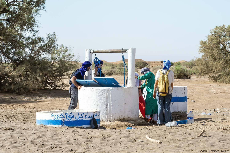 Puits d'eau dans le Désert du Maroc