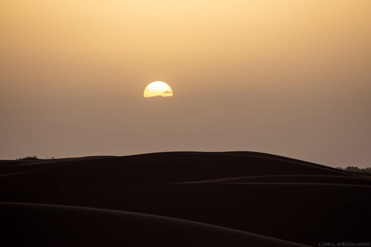 Coucher de soleil dans le Désert du Maroc © L'Oeil d'Édouard