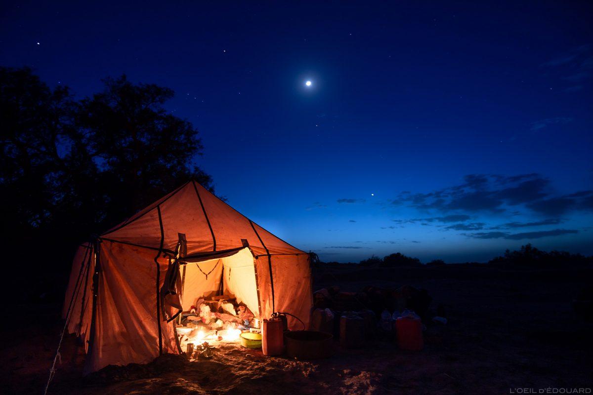 Bivouac sahraoui dans le Désert du Maroc - Trek Mélodie du Désert © L'Oeil d'Édouard
