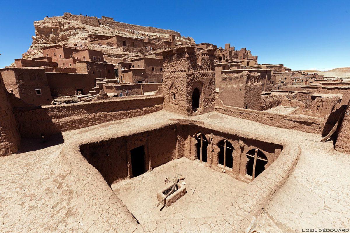 Kasbah Aït Ben Haddou dans le désert du Maroc, près de Ouarzazate