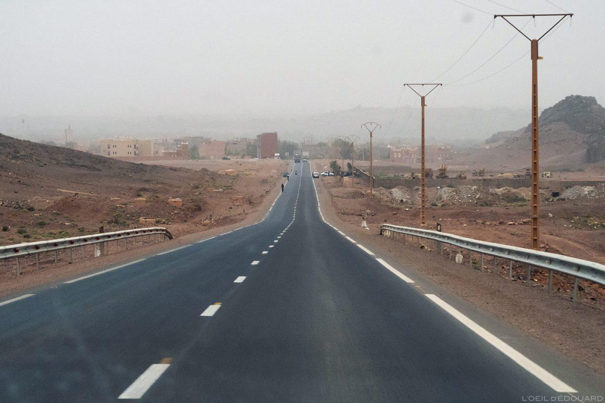 Route vers Ouarzazate, Maroc
