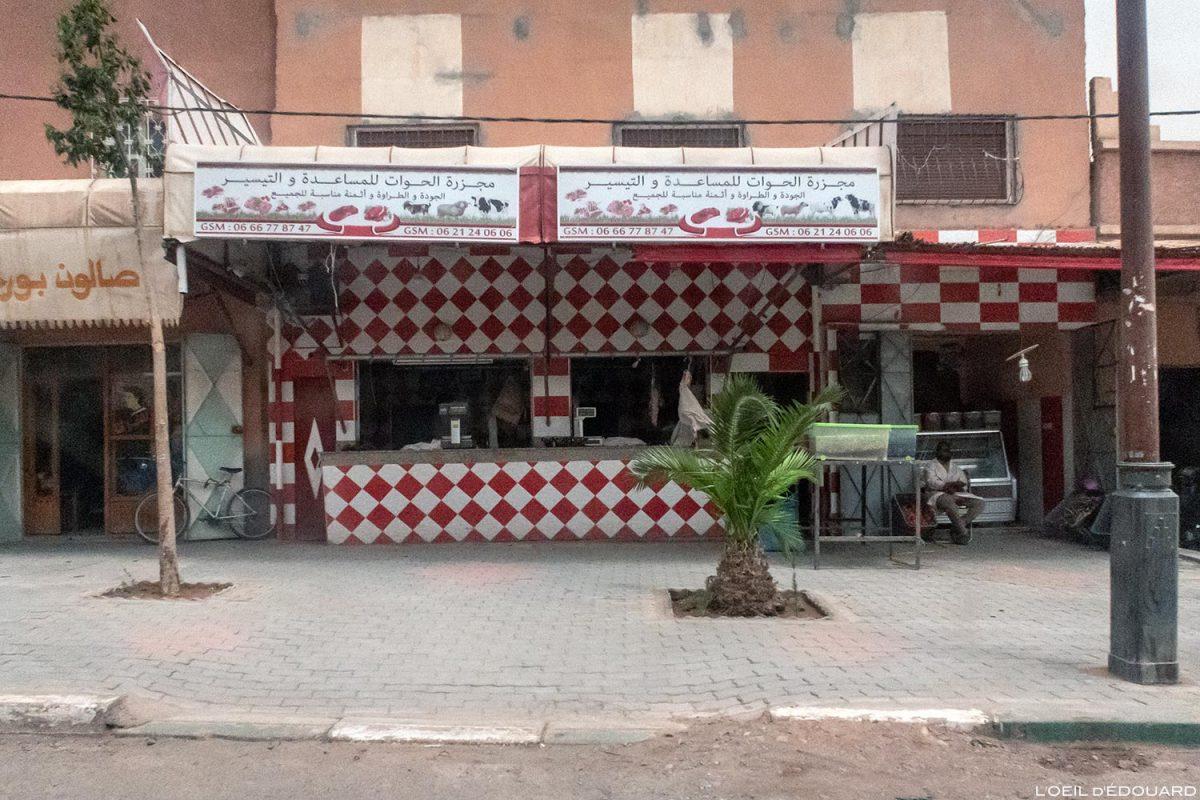 Boucherie dans Ouarzazate, Maroc