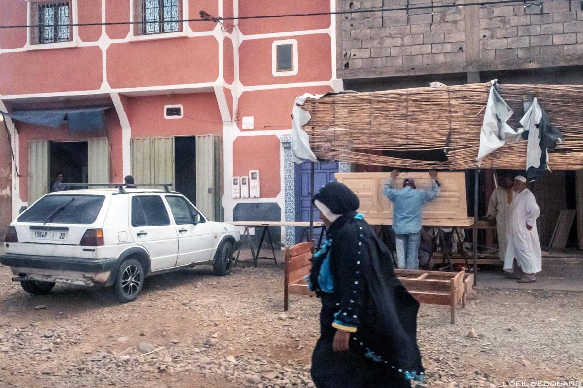 Ville de Zagora, sur la route N9 dans la Vallée du Draâ, Maroc