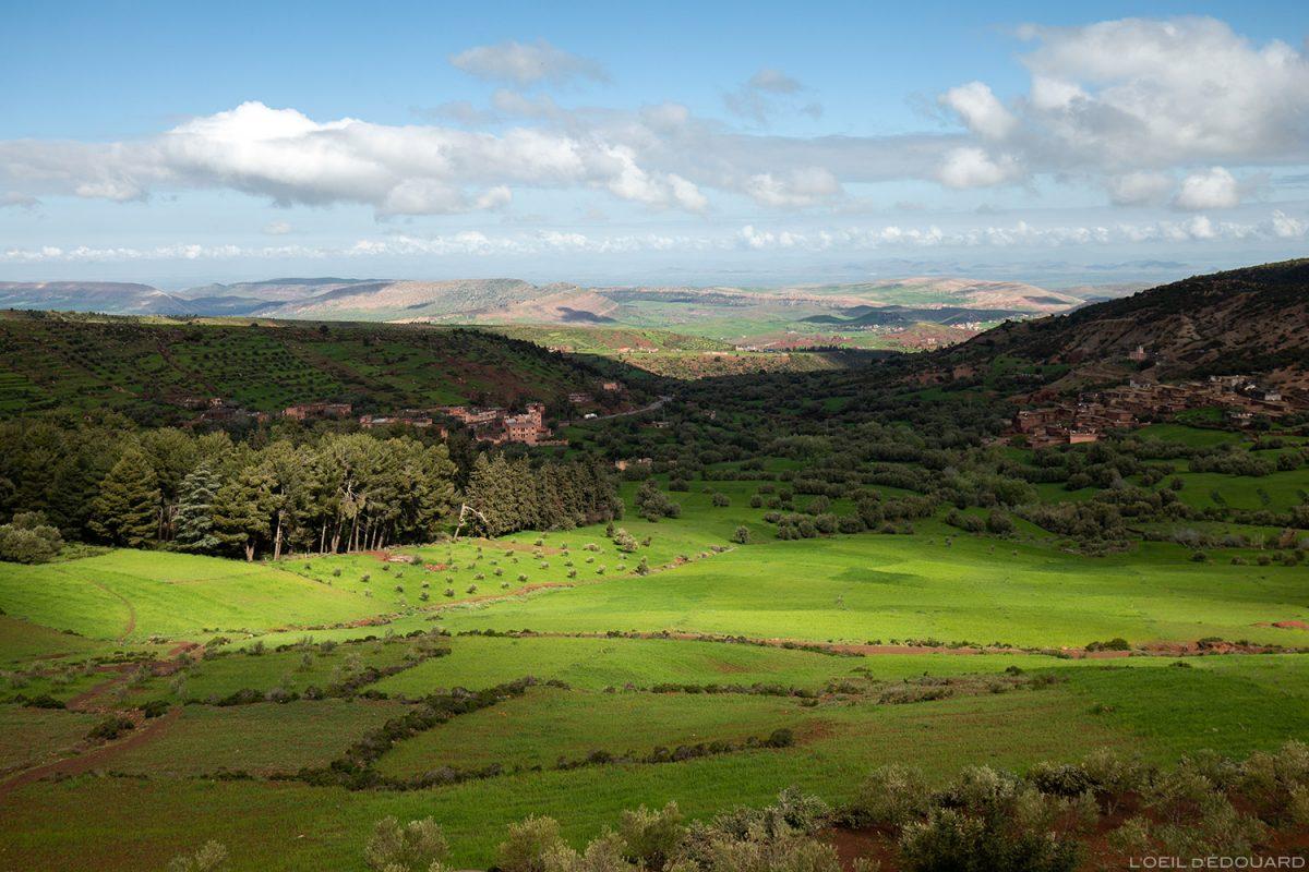 Paysage vallée verdoyante, Aït Barka, Maroc