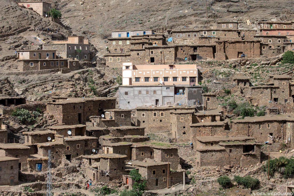Village marocain de Aït Ben Hammar, Vallée du Tichka au Maroc
