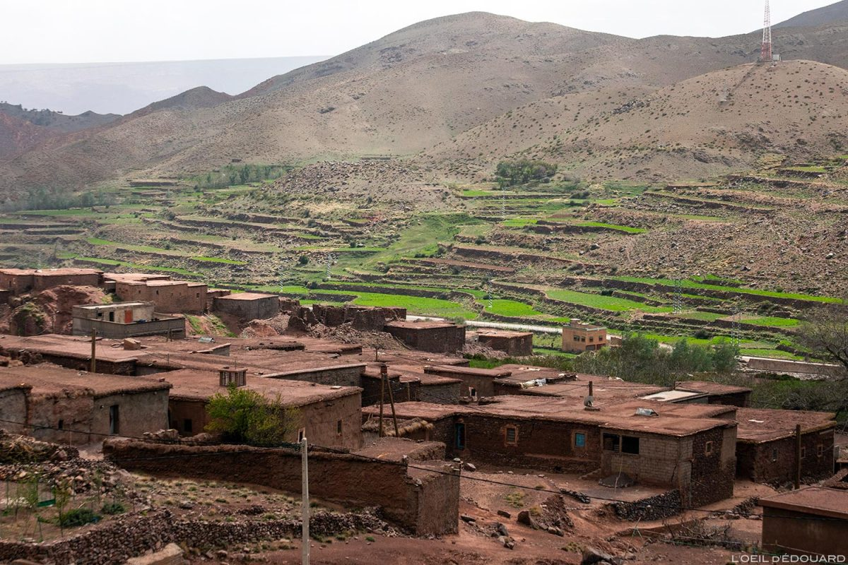 Village marocain de Aguelmouss, Atlas, Maroc