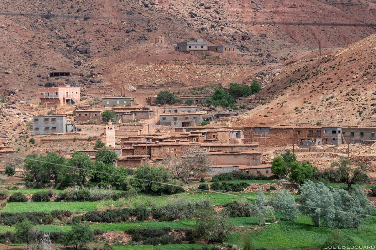Village marocain de Tasmena, Atlas, Maroc