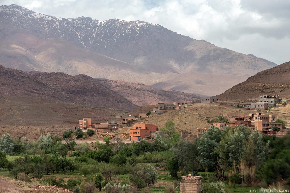 Village marocain, Montagnes de l'Atlas, Maroc
