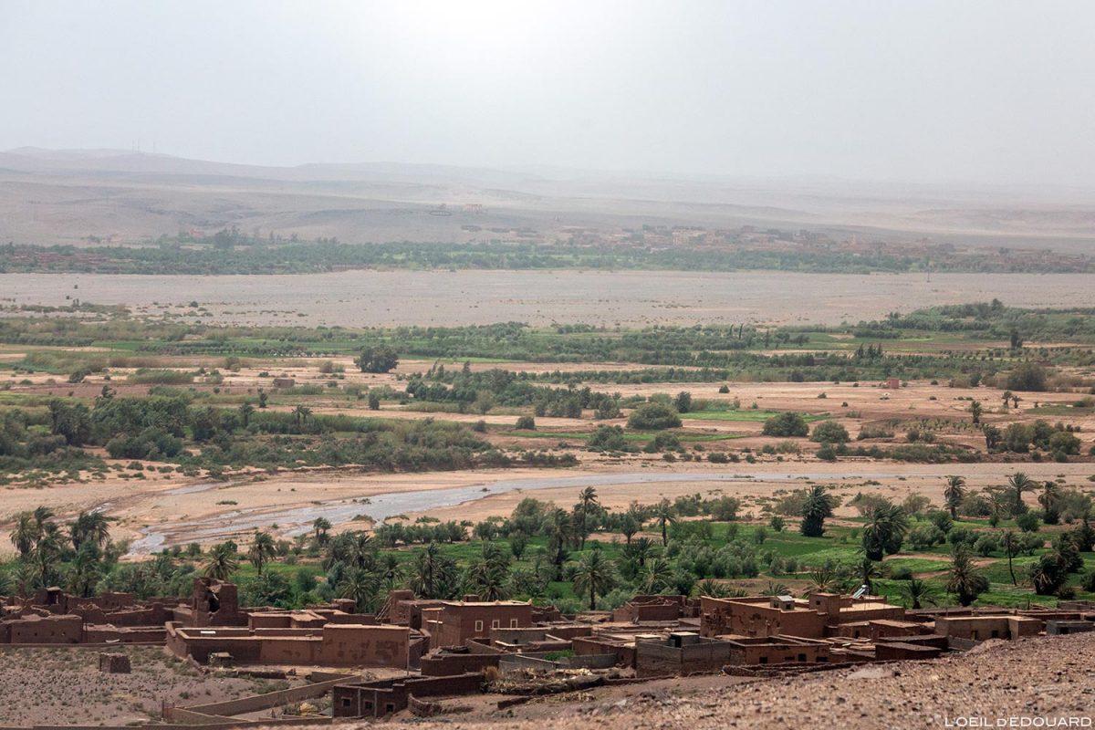 Vallée asséchée au Maroc