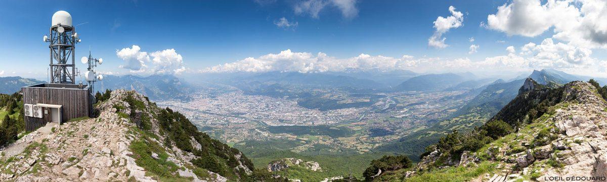 Grenoble depuis le sommet Le Moucherotte - Randonnée Vercors