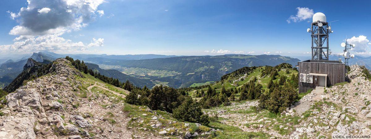 Plateau du Vercors depuis le sommet Le Moucherotte