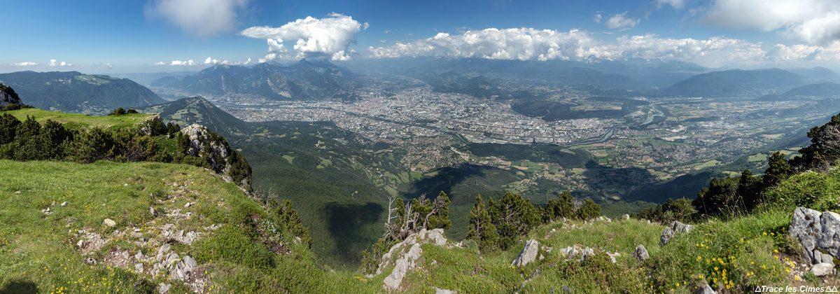 Panorama sur Grenoble depuis Le Moucherotte