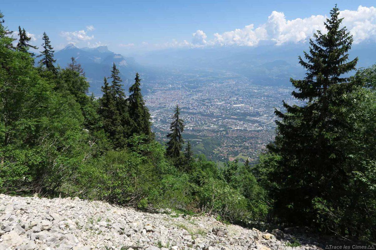 Vue sur Grenoble depuis la randonnée Le Moucherotte, Vercors