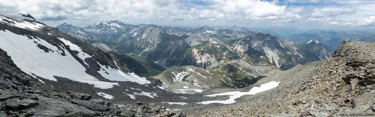 Le Massif de la Vanoise depuis le Dôme des Sonnailles