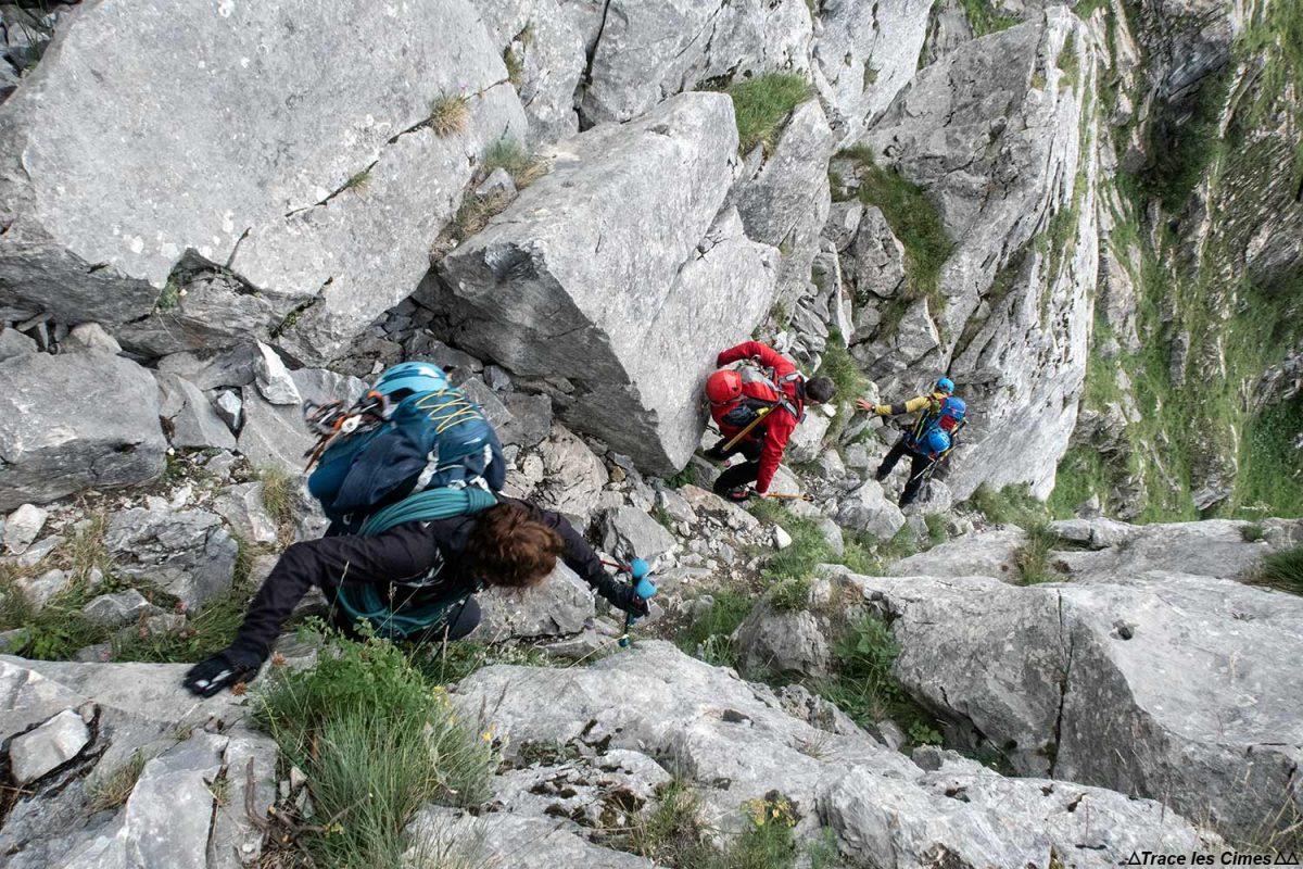 Le Pas de l'Âne au-dessus de Pralognan-la-Vanoise, Massif de la Vanoise