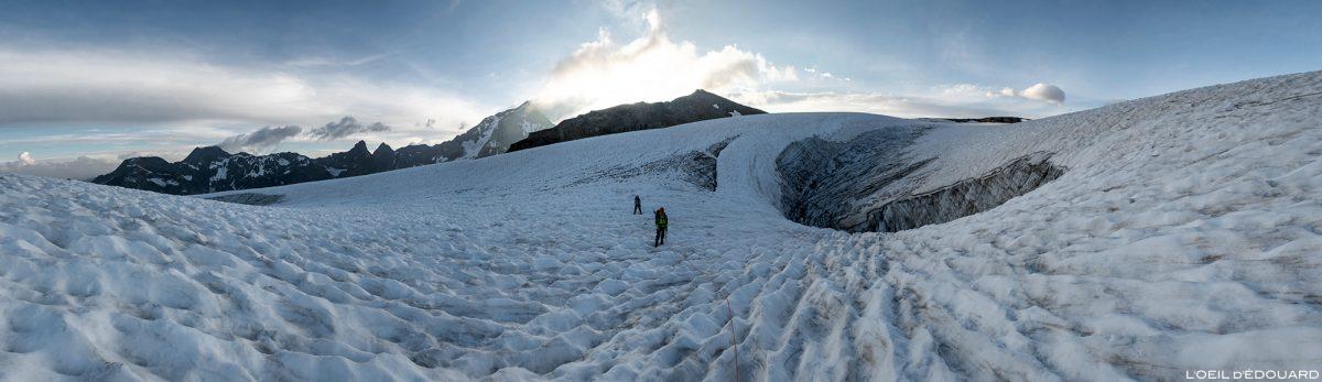 Alpinisme : Crevasse du Glacier de la Roche Ferran, Vanoise