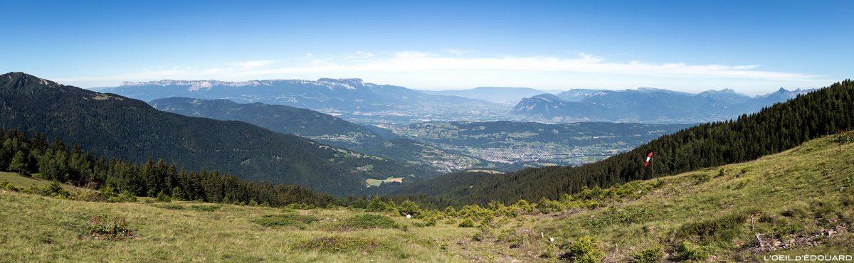 Val Pelouse, Belledonne : vue sur la Chartreuse, Chambéry et les Bauges