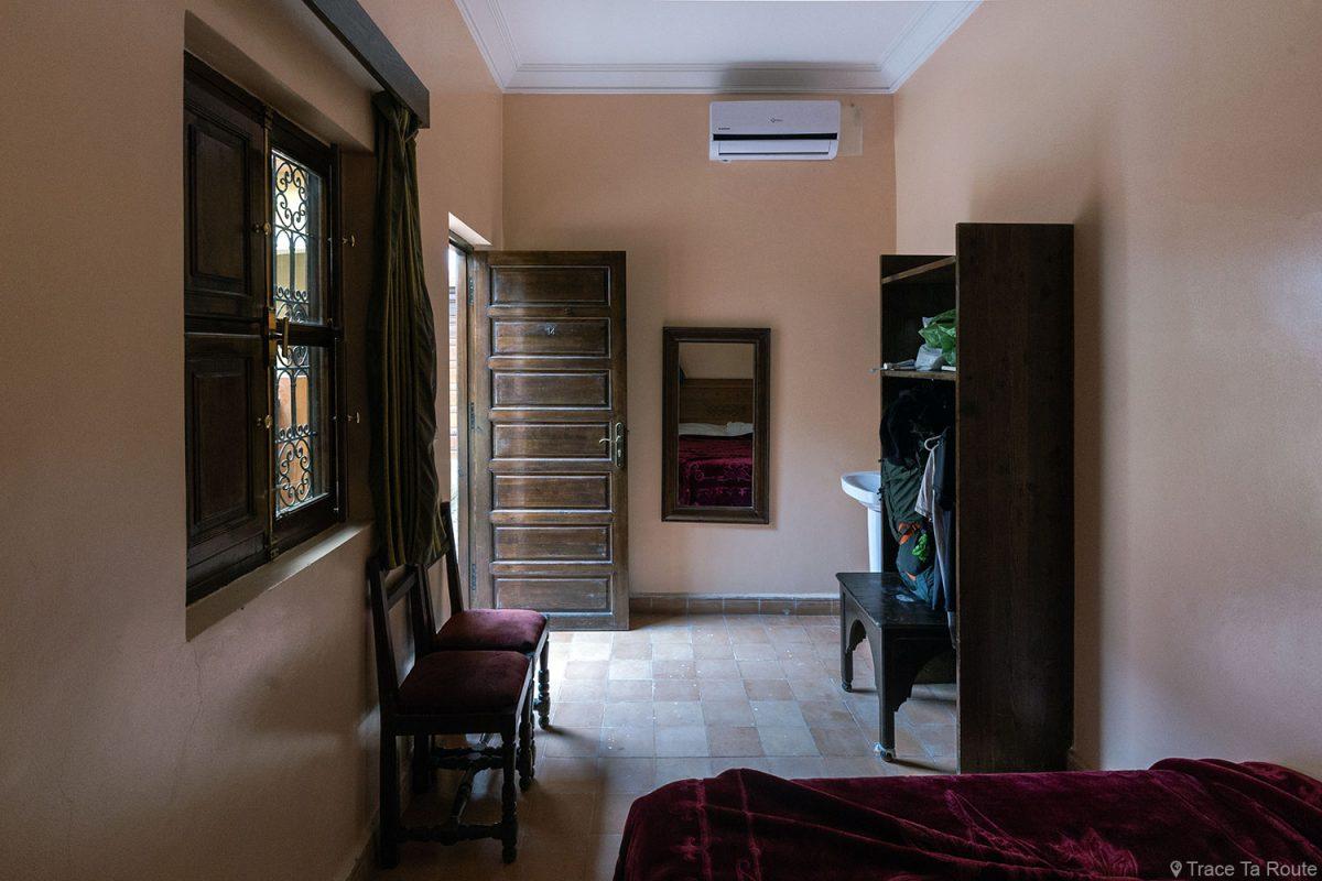 Chambre simple de l'Hôtel Cecil à Marrakech, Maroc