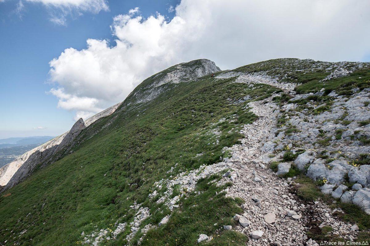 Sentier de randonnée au sommet du Grand Veymont, Vercors
