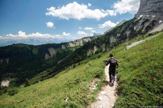 Sentier de randonnée du Pré Jacquet, sous le PaGrand Veymont, Vercors