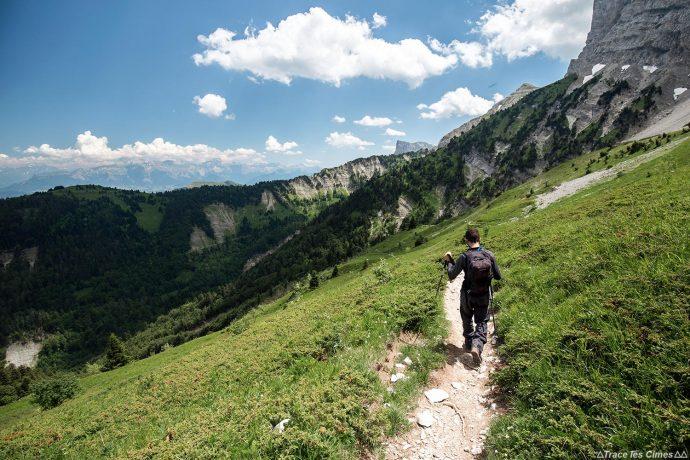 Sentier de randonnée du Pré Jacquet, sous Le Pas de la Ville Grand Veymont Vercors Isère Alpes Paysage Montagne Outdoor French Alps Mountain Landscape Hike Hiking trail Trekking