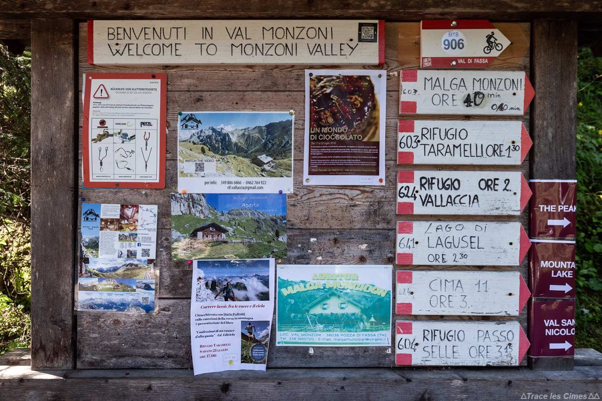 Randonnées dans les Dolomites à Val Monzoni, Italie