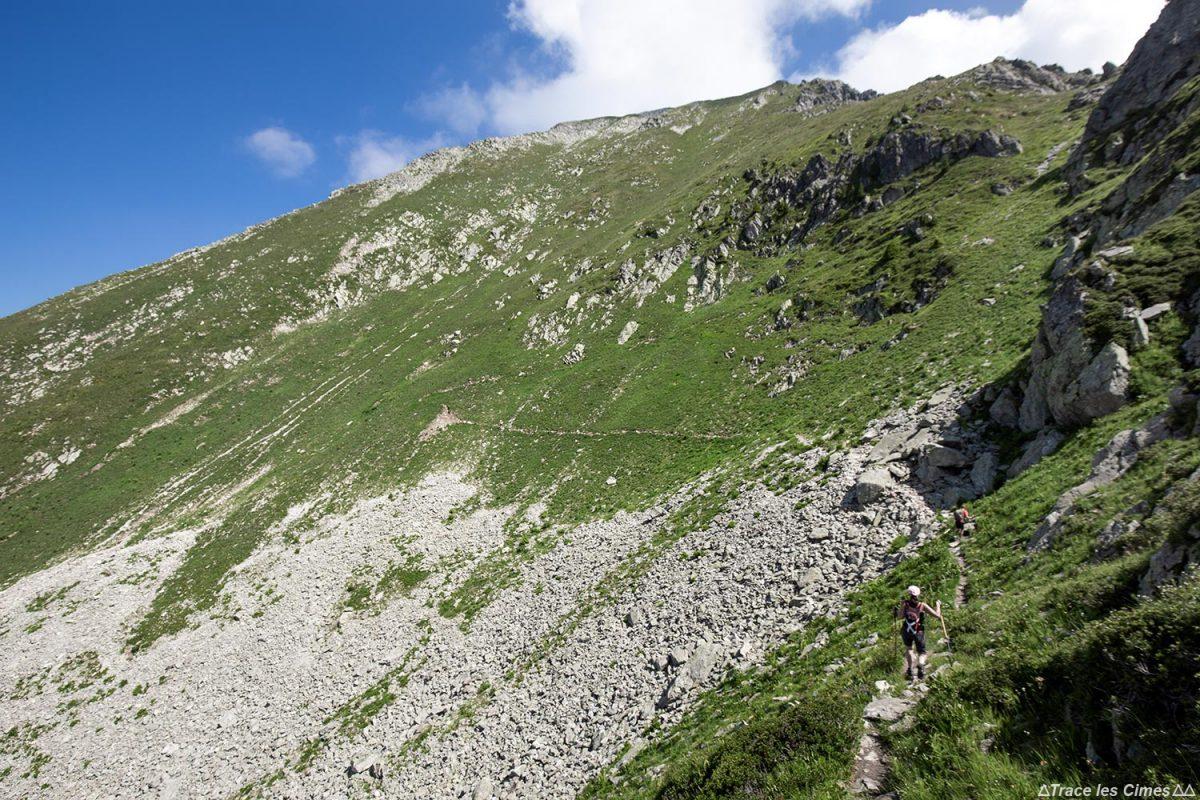 Itinéraire sentier de randonnée aux Grands Moulins par l'arête Sud, Belledonne