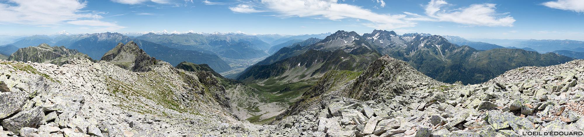 Vue panorama au sommet des Grands Moulins, Belledonne © L'Oeil d'Édouard - Tous droits réservés