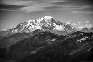Le Mont Blanc vu depuis le sommet des Grands Moulins, Belledonne © L'Oeil d'Édouard - Tous droits réservés