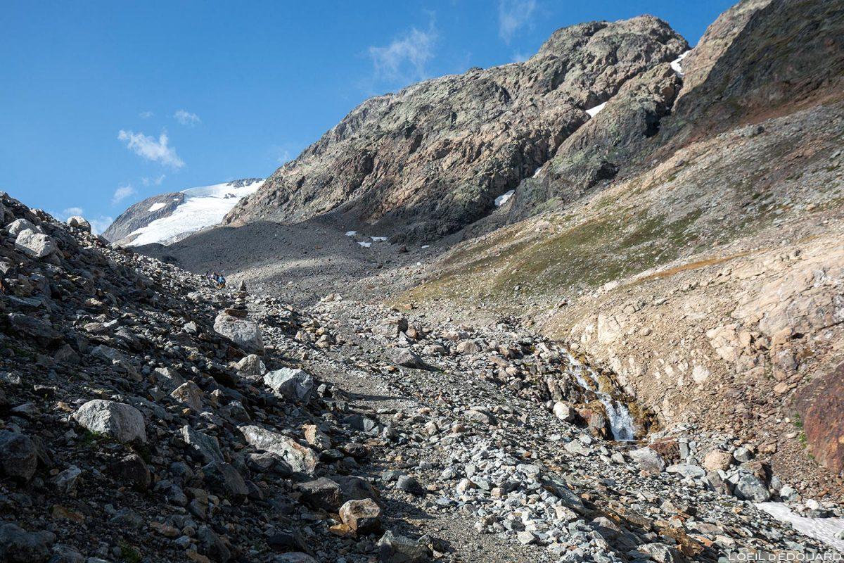 Sentier de randonnée vers le Glacier de Saint-Sorlin