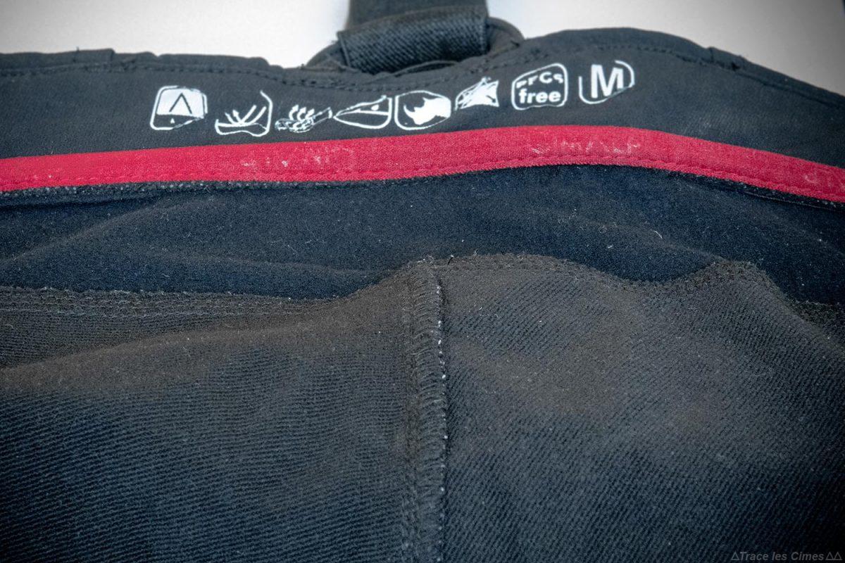 Test Pantalon Alpinisme CimAlp Transalpin : tissu softshell